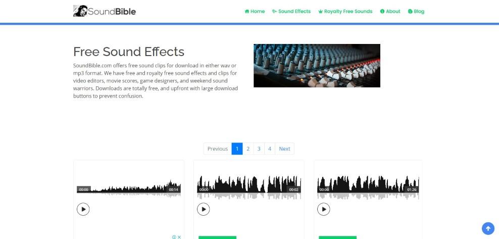 موقع مؤثرات صوتية بصيغة wav