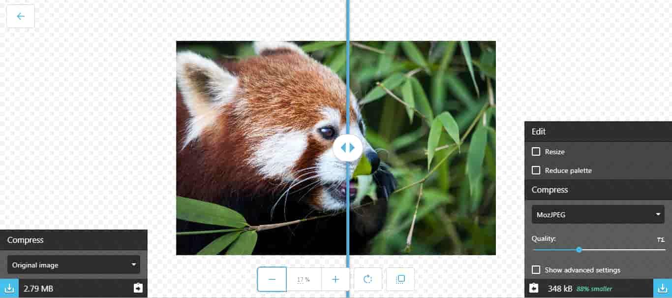 تصغير حجم الصور مع أداة Google Squoosh