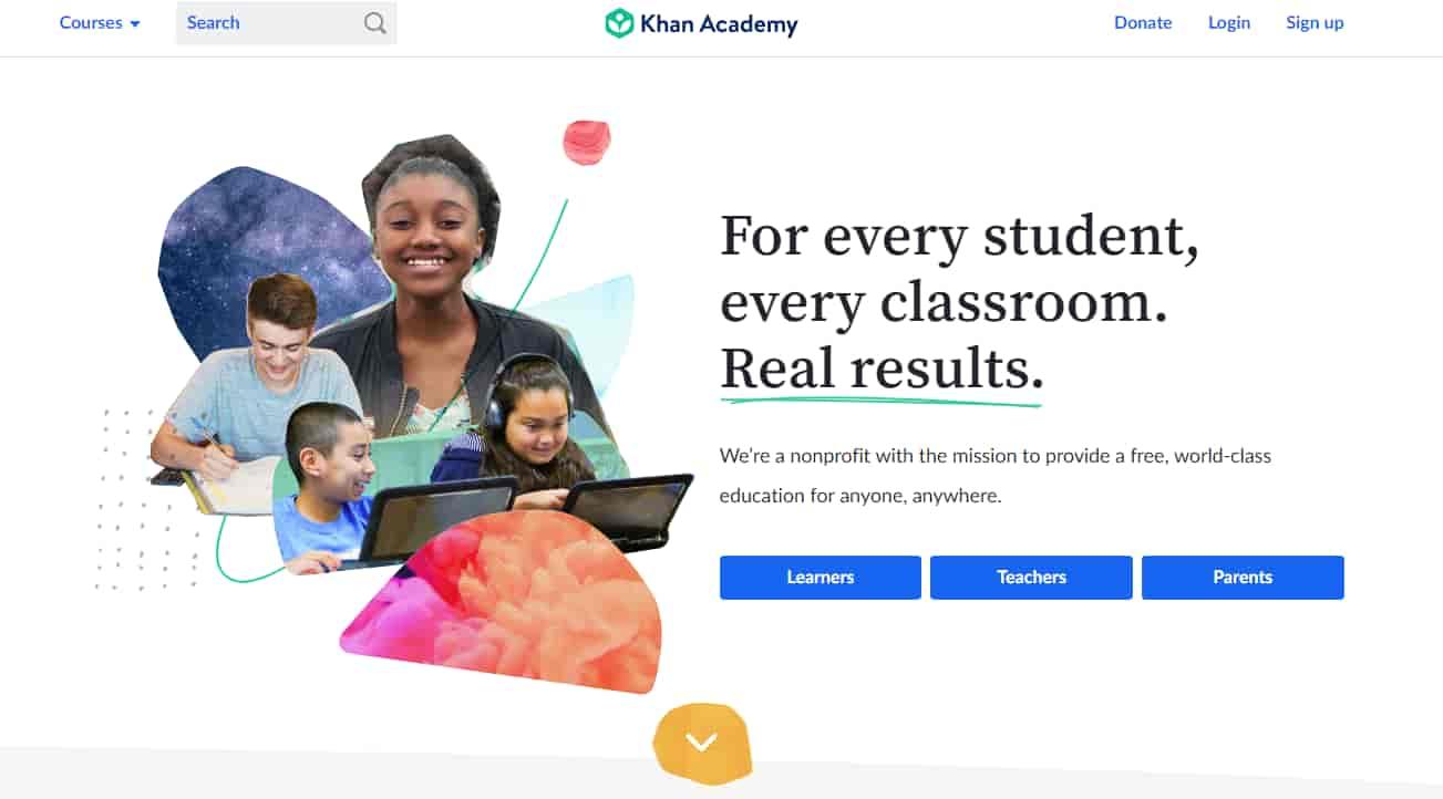 منصة Khan Academy ل التعليم عن بعد
