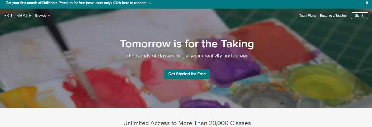 منصة skillshare ل التعليم عن بعد
