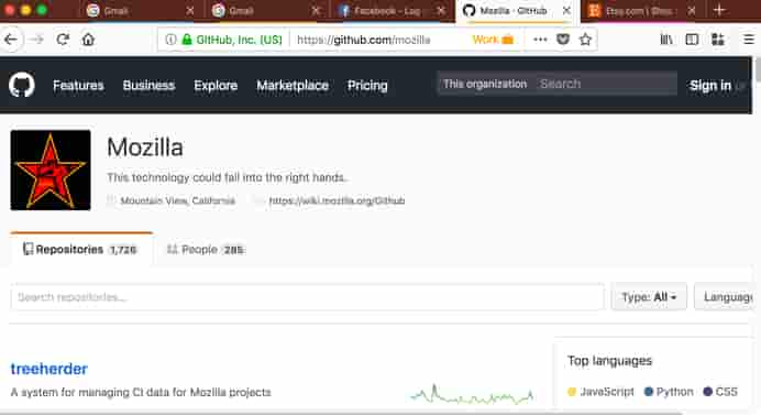 إضافة Firefox Multi-Account