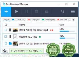 برنامج Free Download Manager