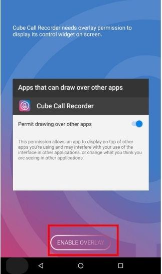 بتثبيت تطبيق Cube Call Recorder وافتحه.