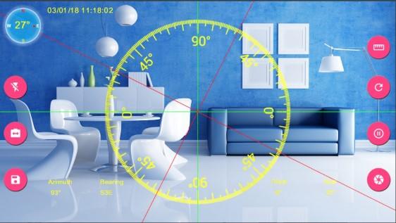 برنامج قياس الزوايا للاندرويد