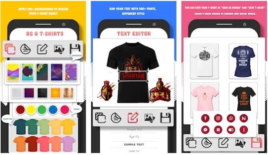 برنامج تصميم قمصان بسيط وسهل الاستخدام