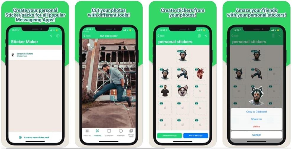 تطبيق تحويل الصور الى ملصقات واتساب ايفون