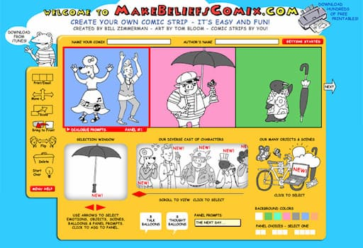مواقع عمل قصة مصورة للاطفال والكبار مجاناً