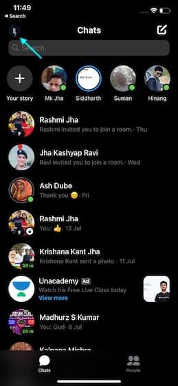 _تمكين خاصية App Lock لفيسبوك ماسنجر على الايفون والايباد.