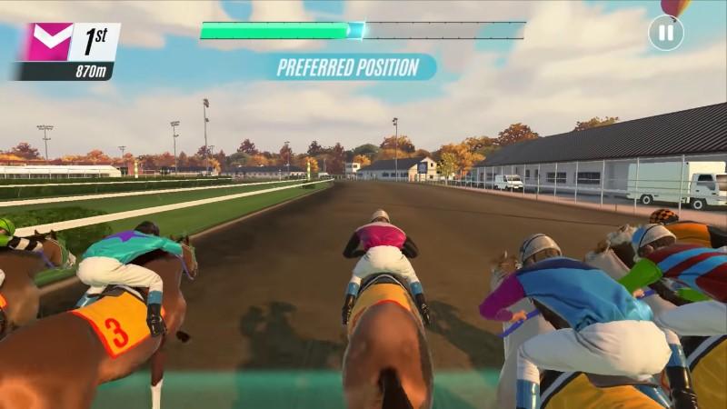 لعبة سباق خيول واقعية برسومات خرافية