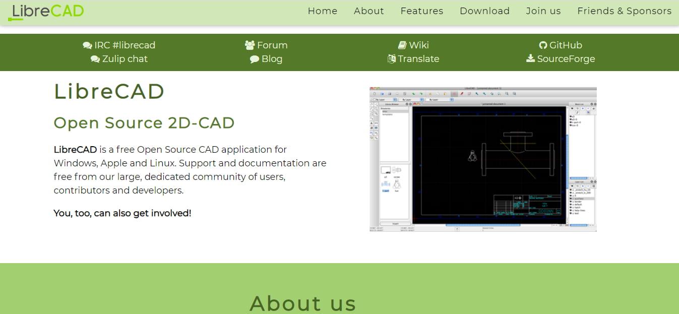 برنامج رسم مخططات هندسية LibreCAD