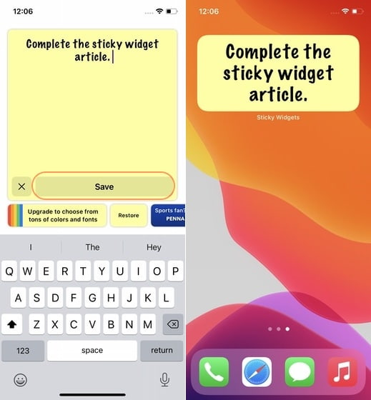 Add Sticky Notes to Your iPhone Home Screen