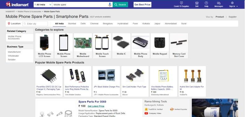 أفضل موقع لبيع قطع غيار الهواتف الذكية